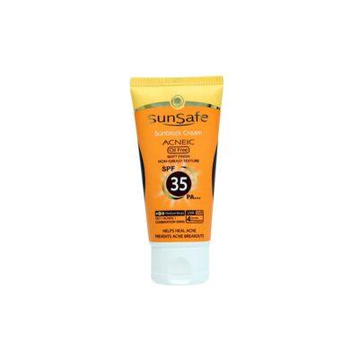 کرم ضد آفتاب رنگی فاقد چربی سان سیف SPF35